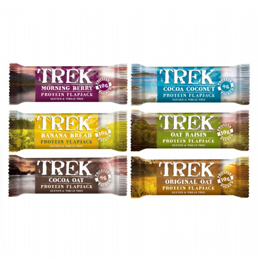 Mixed Flavours Trek Protein Flapjacks - Gluten & Wheat Free 50g